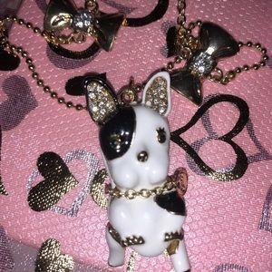 Betsey Johnson Bulldogs Necklace new 28